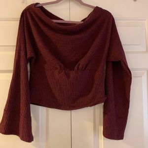 Free people off the shoulder thermal top